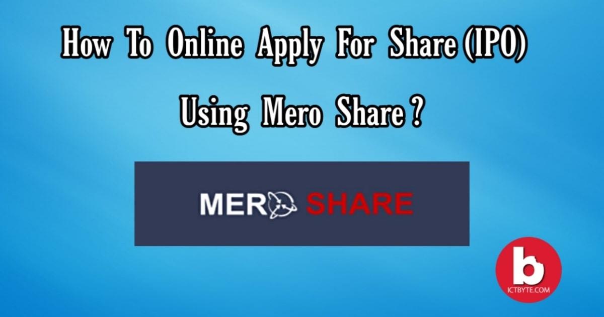 mero share how to