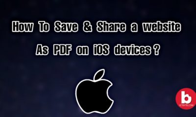 save and share a website as PDF on iOS devices