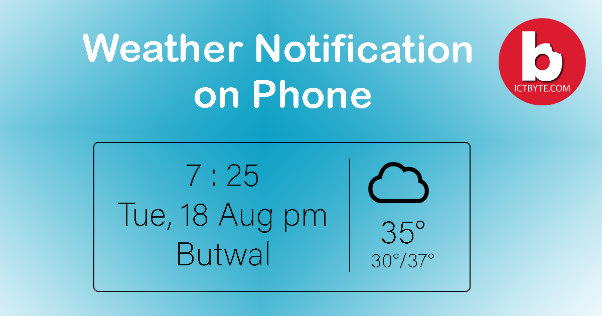 weather notification on phone