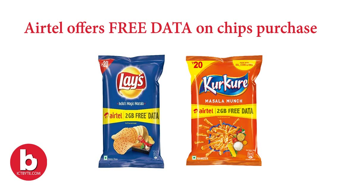free data on every purchase of chips feature