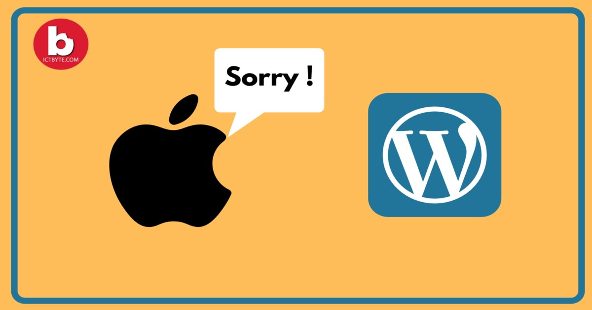 Apple says sorry to WordPress apple whypng