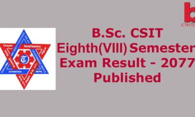 BSc. CSIT 8th SEMESTER RESULT