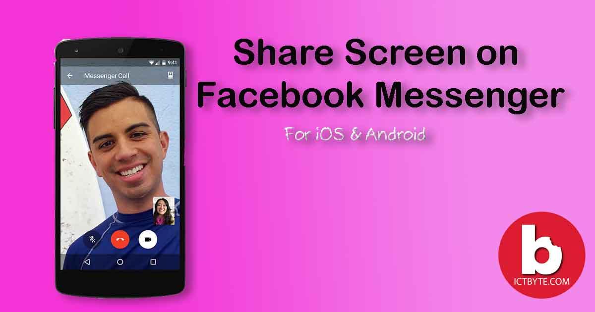 share screen on Facebook Messenger