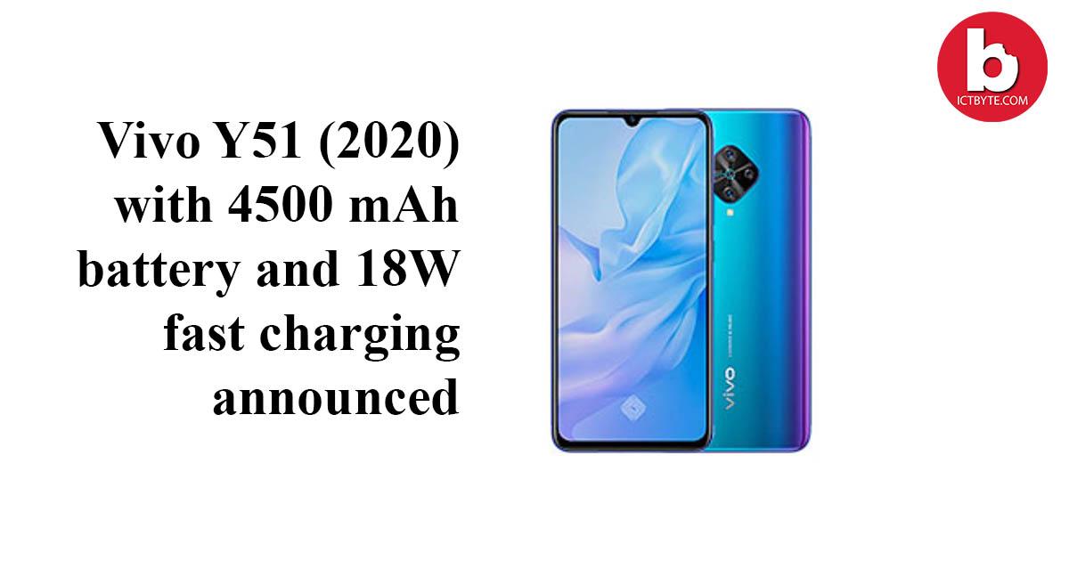 Vivo Y51 2020 announced