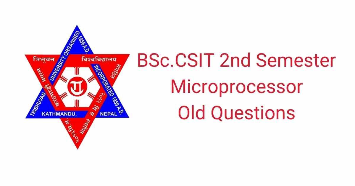 BSc.CSIT Second semester Microprocessor