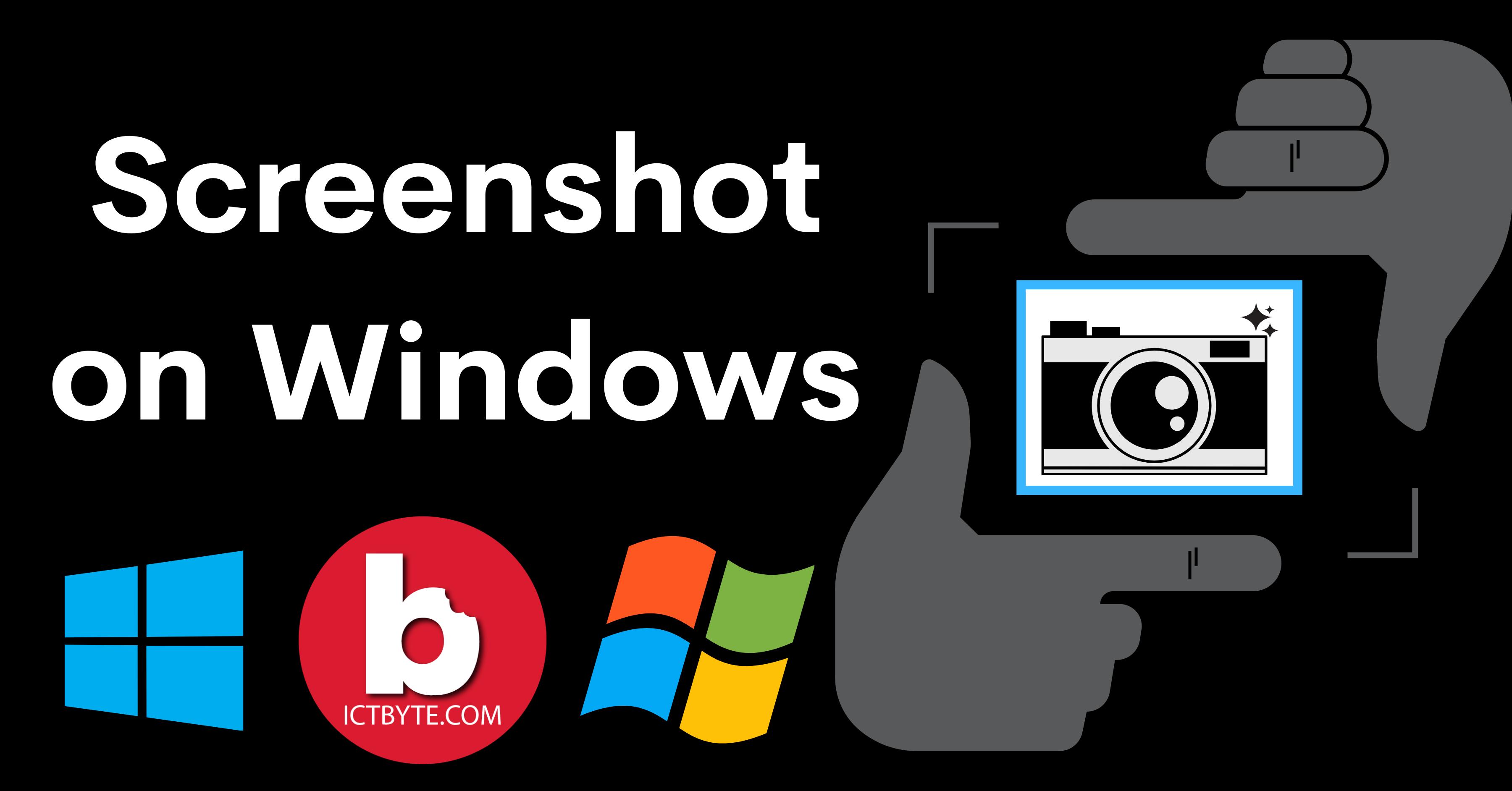 How to take screenshot on Windows ?