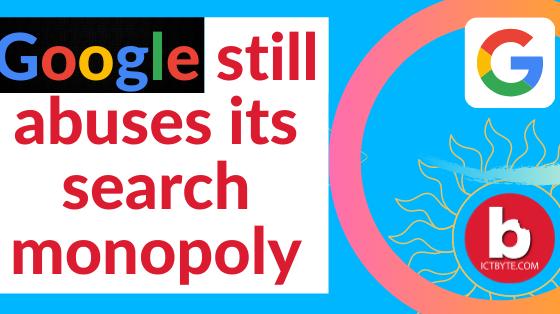 Google search monopoly