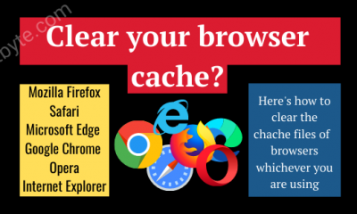 How to clear your browsers cache (1)
